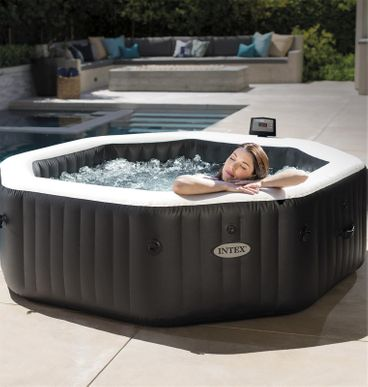 Spa Gonflable Intex Pure Spa Carbone Octo 6pl Bulles Jets Cash