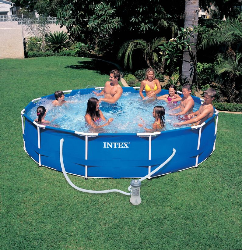 Piscine intex metal frame 3 66x0 76 cash piscines for Piscine hors sol intex prix